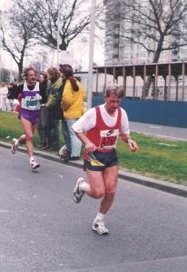 Dit plaatje was  van mijn 2de marathon in Rotterdam  (1994)