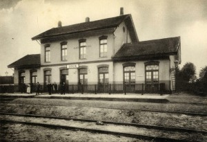 Stationsgebouw Uden 1910. (bron NBDS)