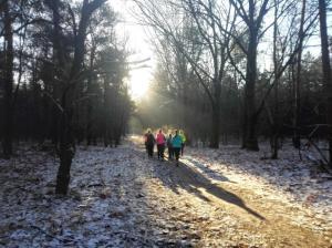 Bij het inlopen kregen we al hulp van de zon.
